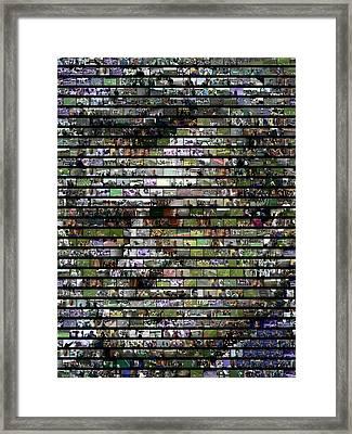 Joe Paterno Mosaic Framed Print
