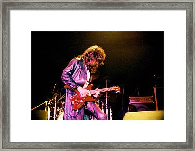 Joe Perry Project -2 Circa 1981-82 Framed Print by Steve Pimpis