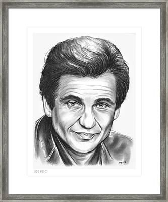 Joe Pesci Framed Print by Greg Joens