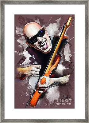 Joe Satriani Framed Print by Melanie D