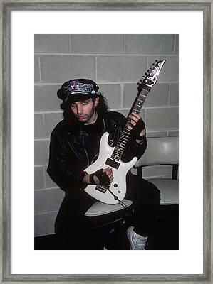 Joe Satriani Framed Print by Rich Fuscia