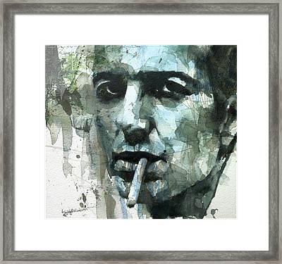 Joe Strummer - Retro  Framed Print by Paul Lovering