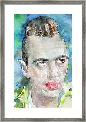 Joe Strummer - Watercolor Portrait.4 Framed Print
