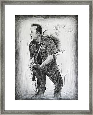 Joe Strummer's Dream Framed Print