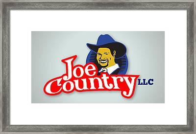 Joecountry Logo_llc Kitchen Framed Print by Joe Greenidge