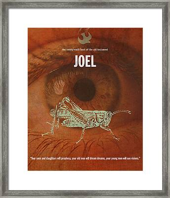 Joel Books Of The Bible Series Old Testament Minimal Poster Art Number 29 Framed Print