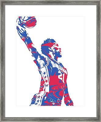Joel Embiid Philadelphia Sixers Pixel Art 13 Framed Print