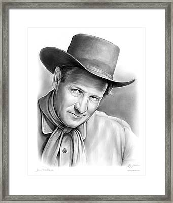 Joel Mccrea Framed Print by Greg Joens
