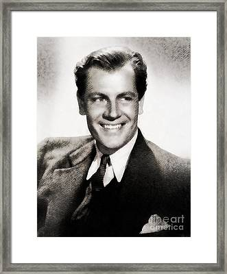 Joel Mccrea, Vintage Actor Framed Print by John Springfield