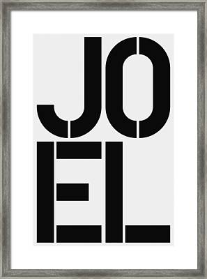 Joel Framed Print by Three Dots