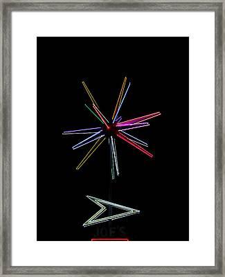 Joe's At Night Framed Print