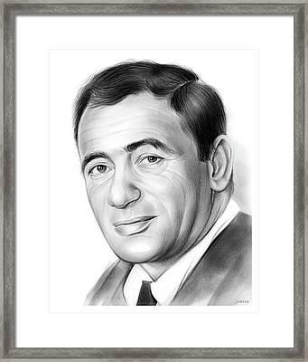 Joey Bishop Framed Print by Greg Joens
