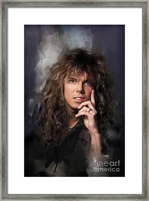 Joey Tempest Framed Print