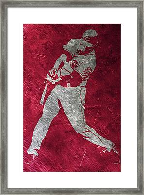 Joey Votto Cincinnati Reds Art Framed Print by Joe Hamilton