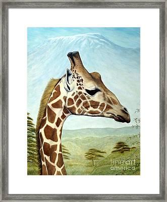 Joey's Giraffe Framed Print by Joey Nash
