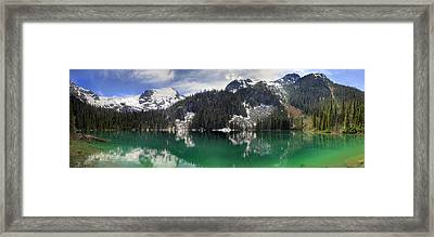 Joffre Lake Middle Panorama B.c Canada Framed Print by Pierre Leclerc Photography