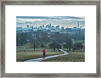 Jogger Framed Print