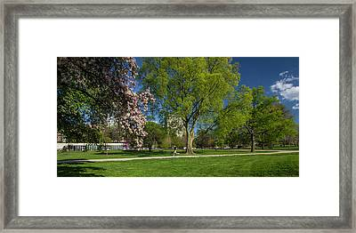 Jogging In Forest Park Framed Print by Garry McMichael