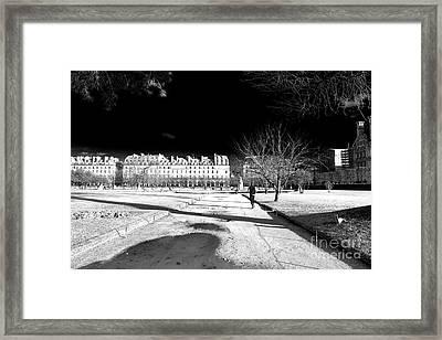 Jogging In Paris Framed Print