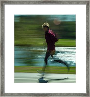 Jogging Through Forest Park Framed Print by Garry McMichael