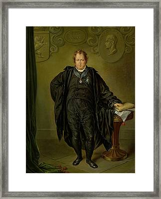 Johan Melchior Kemper Framed Print by David Pierre Giottino Humbert de Superville
