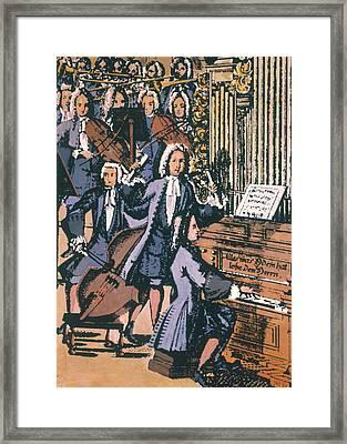 Johann Sebastian Bach, 1732 Framed Print by Granger