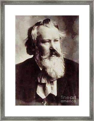Johannes Brahms, Composer By Sarah Kirk Framed Print by Sarah Kirk