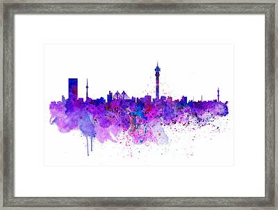 Johannesburg Skyline Framed Print by Marian Voicu