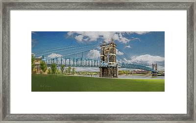 John A. Roebling Bridge Framed Print