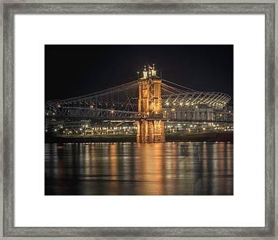 John A. Roebling Suspension Bridge Framed Print by Scott Meyer