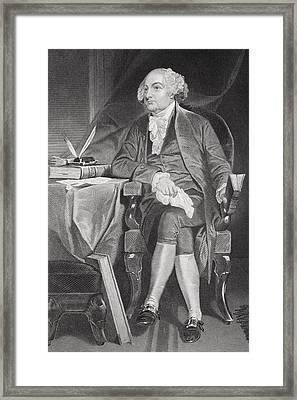 John Adams 1735-1826. First Framed Print by Vintage Design Pics