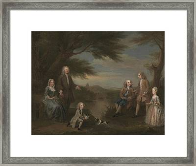John And Elizabeth Jeffreys And Their Children Framed Print