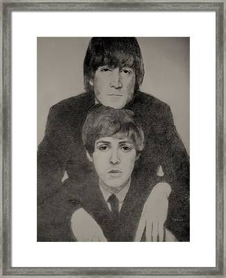 John And Paul Framed Print by Glenn Daniels
