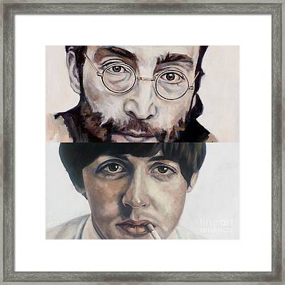 John And Paul Framed Print by Rebecca Glaze