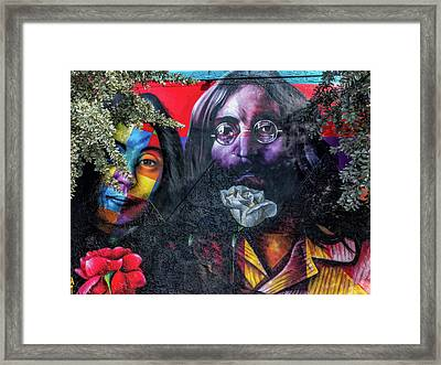 John And Yoko Framed Print by Robin Zygelman