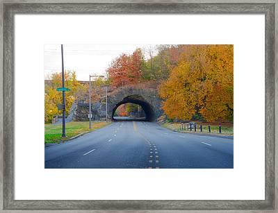 John B Kelly Drive In Autumn Framed Print by Bill Cannon