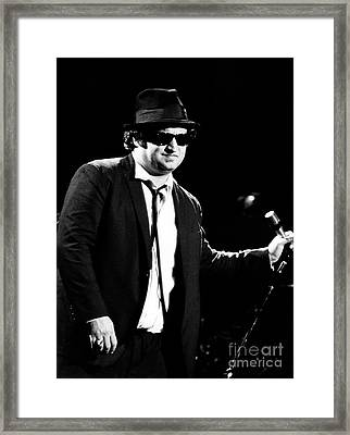 John Belushi 1980 In Blues Brothers Framed Print