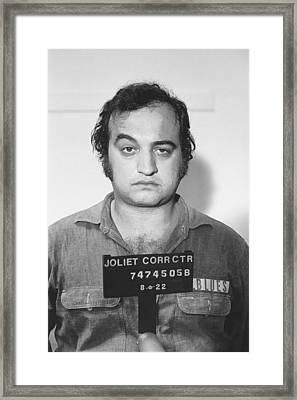John Belushi Mug Shot For Film Vertical Framed Print by Tony Rubino