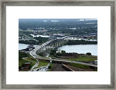 Framed Print featuring the photograph John Blatnik Bridge by Ron Read