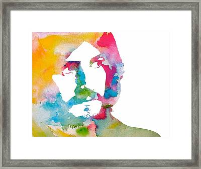 John Bonham Watercolor Framed Print by Dan Sproul