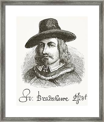 John Bradshaw 1602 To 1659. Judge At Framed Print
