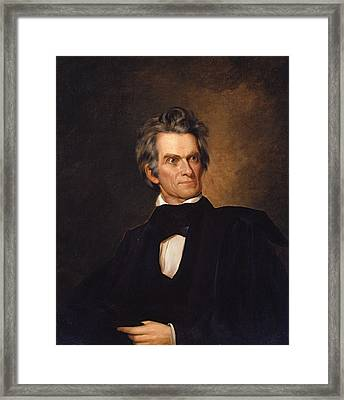John C. Calhoun Framed Print by George Peter Alexander Healy