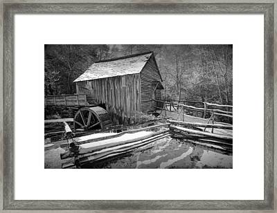 John Cable Gristmill In Cade's Cove The Great Smokey Mountains Framed Print