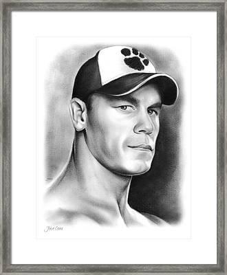 John Cena Framed Print by Greg Joens