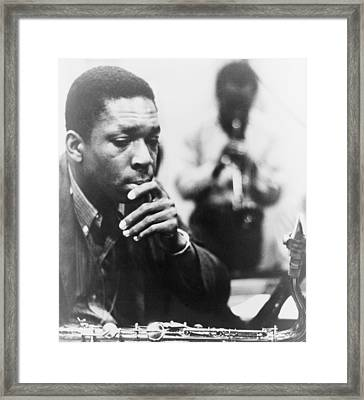 John Coltrane 1926-1967, Master Jazz Framed Print by Everett