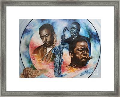 Blaa Kattproduksjoner     John Coltrane - Jazzed  Framed Print