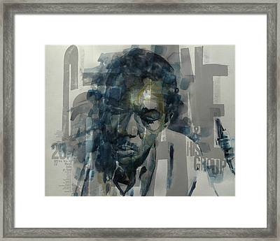 Framed Print featuring the mixed media John Coltrane  by Paul Lovering