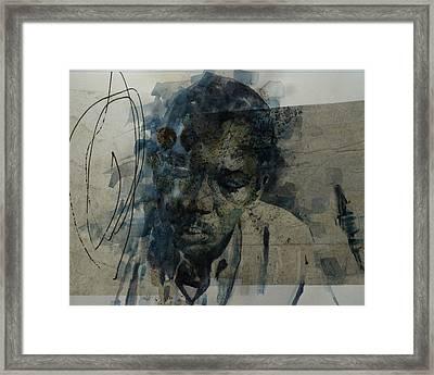 John Coltrane / Retro Framed Print by Paul Lovering