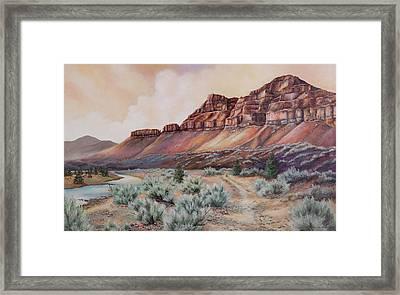 John Day River At 30 Mile Framed Print