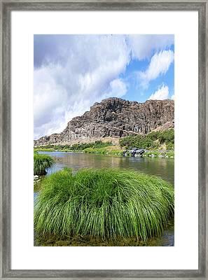 John Day River Landscape In Summer Portrait Framed Print